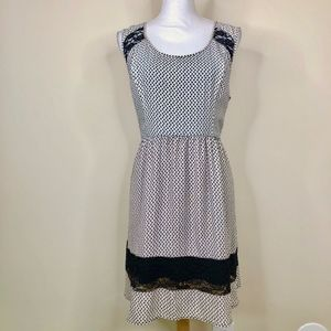 Bar III Sleeveless Black & White Dress
